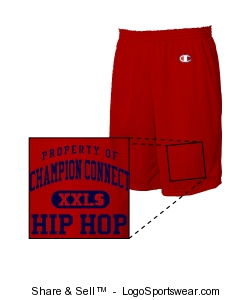 Champion 100% Ring-Spun Cotton Jersey Gym Short Design Zoom